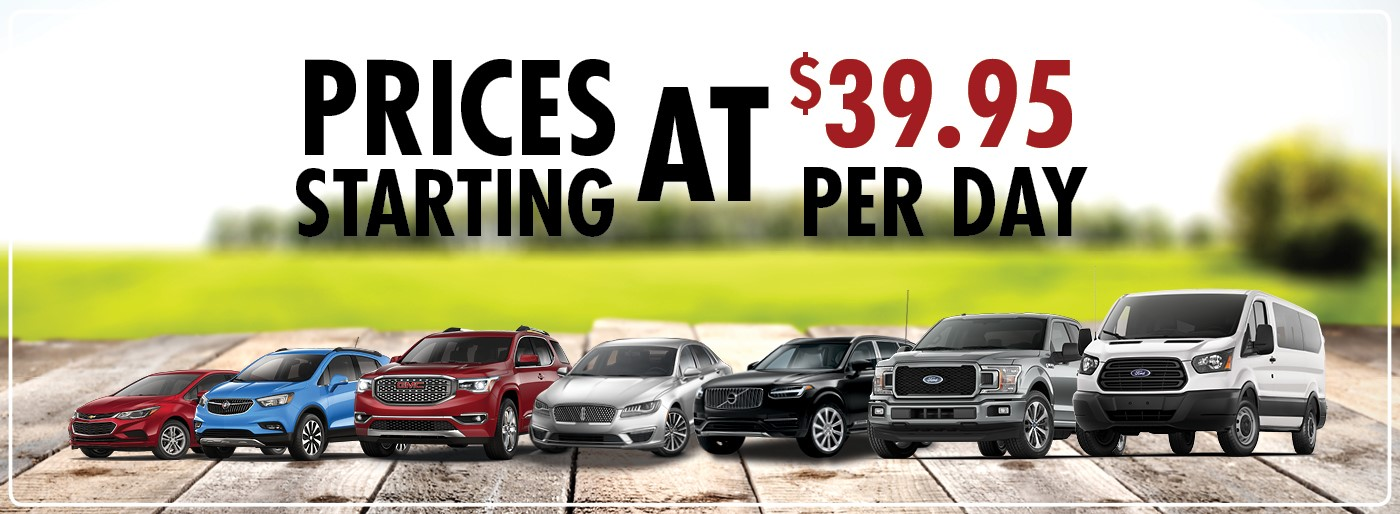 Prices Starting At $39.95 Per Day